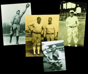 These original photos feature just a few of the players named to baseball's greatest all-time team — Ty Cobb, Babe Ruth, Lou Gehrig, Walter Johnson, and Mickey Cochrane.