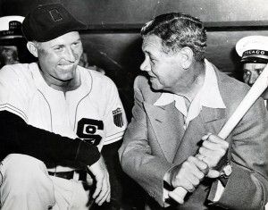 During his last season in the majors, with the Chicago White Sox in 1947, Red and former teammate Babe Ruth reminisced about the good ole' days.