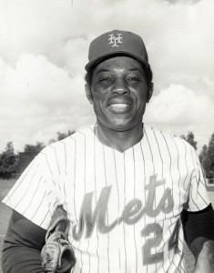 Willie Mays—the last New York Giants player—in 1973 which was his final season.