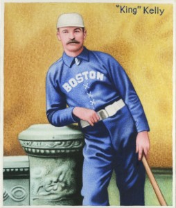 "Mike ""King"" Kelly strikes a regal pose in this original artwork based on a famous studio photograph of the baseball star when he was at the height of his considerable fame."