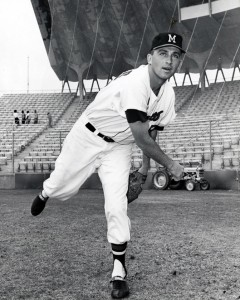 Milwaukee Braves pitcher Phil Niekro in 1965.