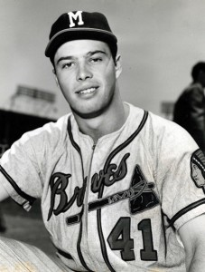 Eddie Mathews with the Braves in 1953—their first season in Milwaukee.