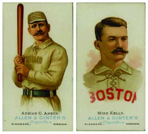 "When Allen and Ginter selected a handful of baseball players to feature on cards to market their tobacco brand, they included the two most popular professionally players in the country, Adrian ""Cap"" Anson and Mike ""King"" Kelly."