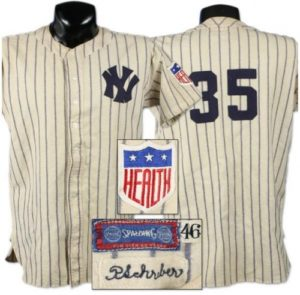 1945 New York Yankees Paul Schreiber game worn jersey.